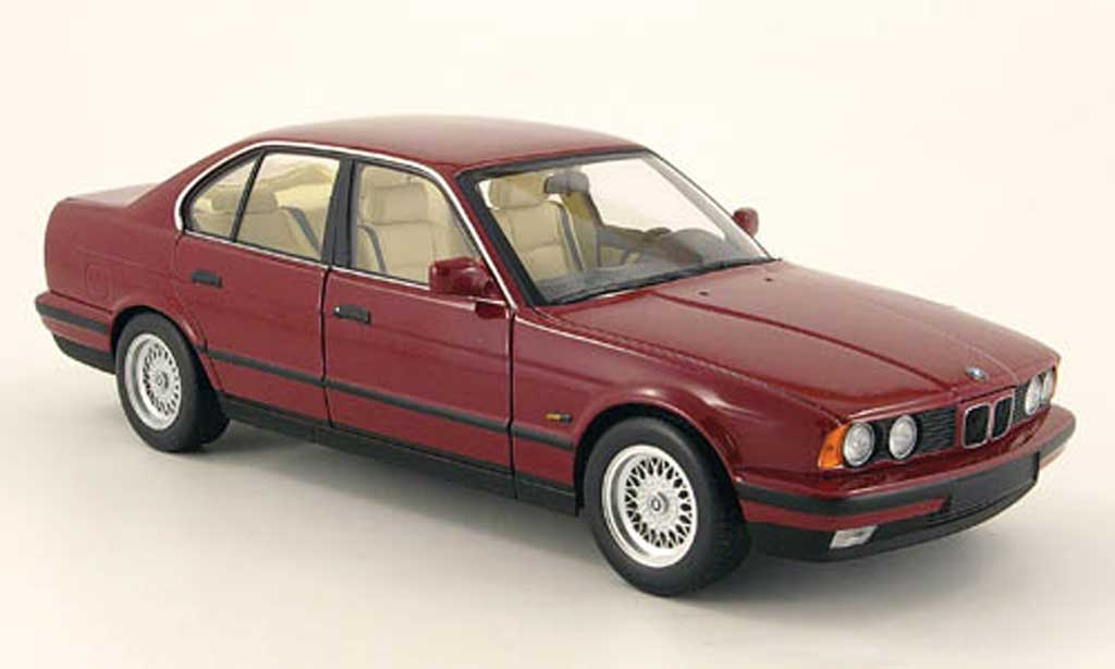 Bmw 535 1988 1/18 Minichamps i (e34) rouge miniature