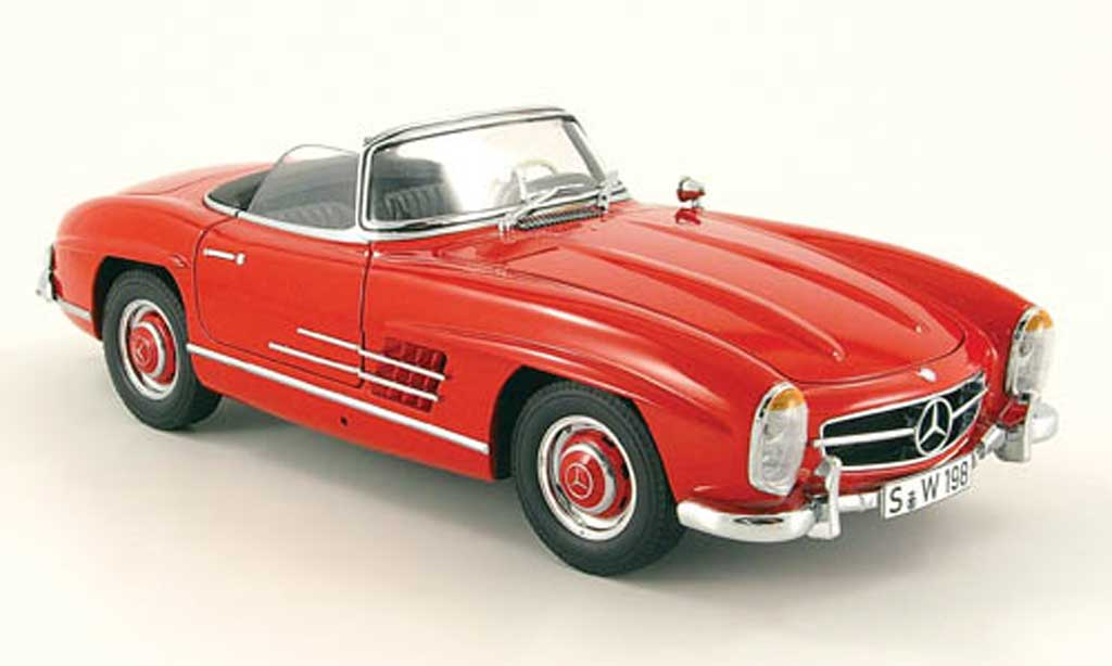 Mercedes 300 SL 1/18 Minichamps roadster (w 198 ii) rouge 1957 miniature