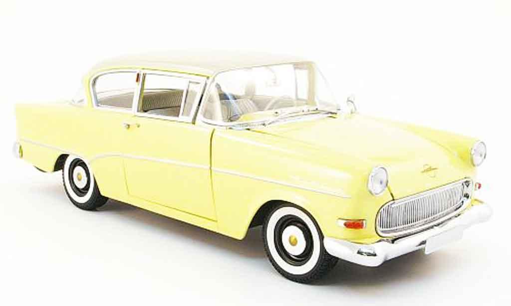 Opel Rekord 1/18 Minichamps p1 jaune/blanche 1958