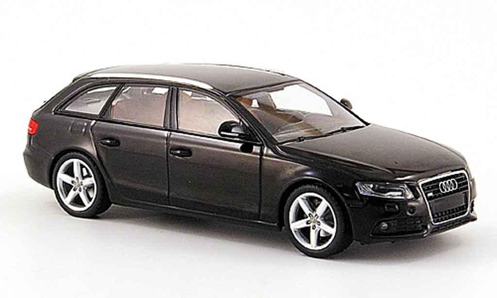 Audi A4 1/43 Minichamps Avant noire 2007 miniature