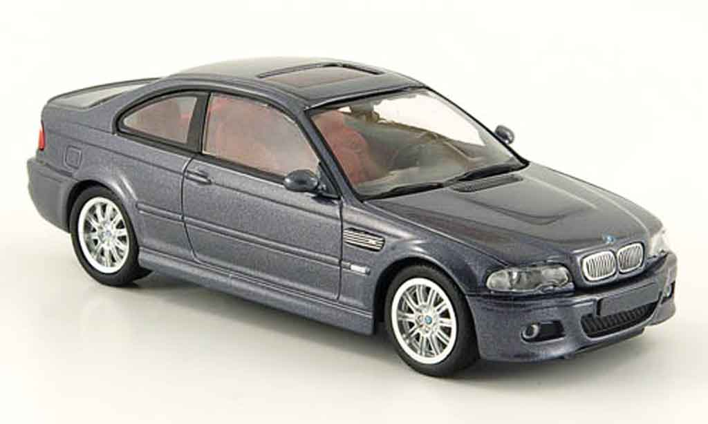 Bmw M3 E46 1/43 Minichamps Coupe grey 2001 diecast model cars