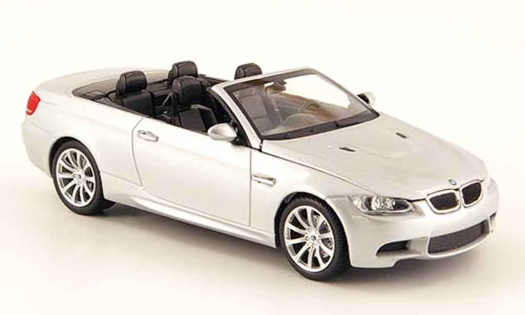 Bmw M3 E93 1/43 Minichamps Cabriolet grey metallisee 2008 diecast model cars