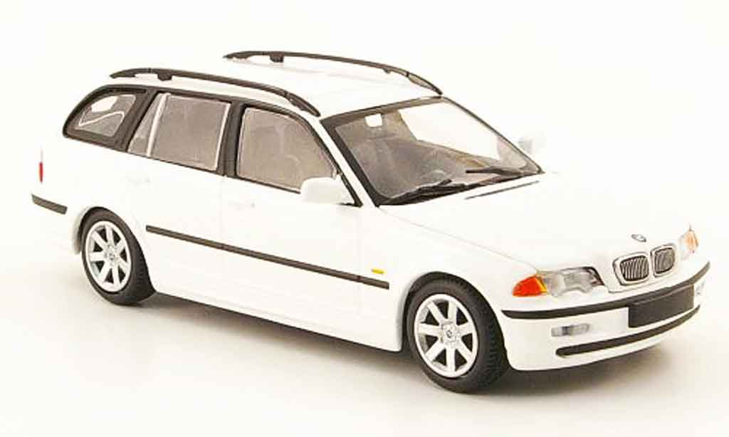 Bmw 323 1/43 Minichamps Touring (E46) white 1999 diecast model cars