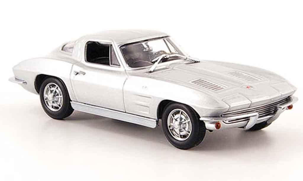 Chevrolet Corvette C2 1/43 Minichamps Sport Coupe grise metallisee 1963 miniature