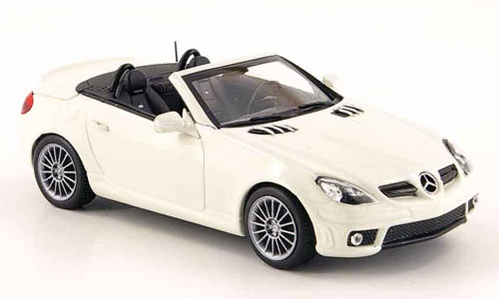 Mercedes Classe SLK 1/43 Minichamps 55 AMG (R171) blanche 2008 miniature
