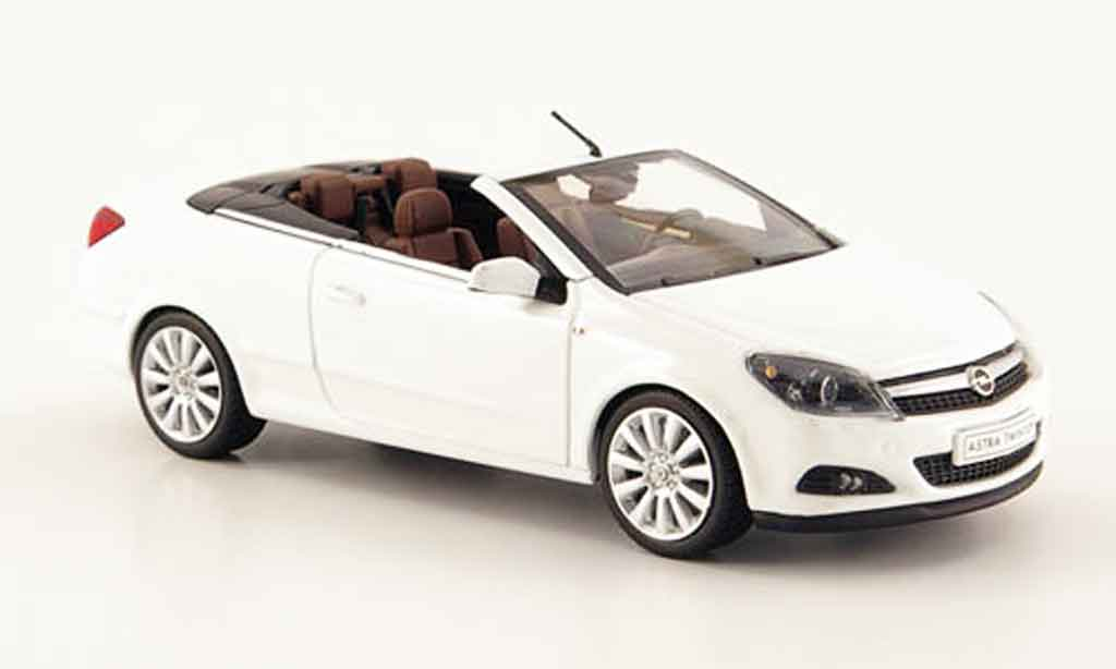 Opel Astra 1/43 Minichamps twin top cabriolet blanche 2006 miniature