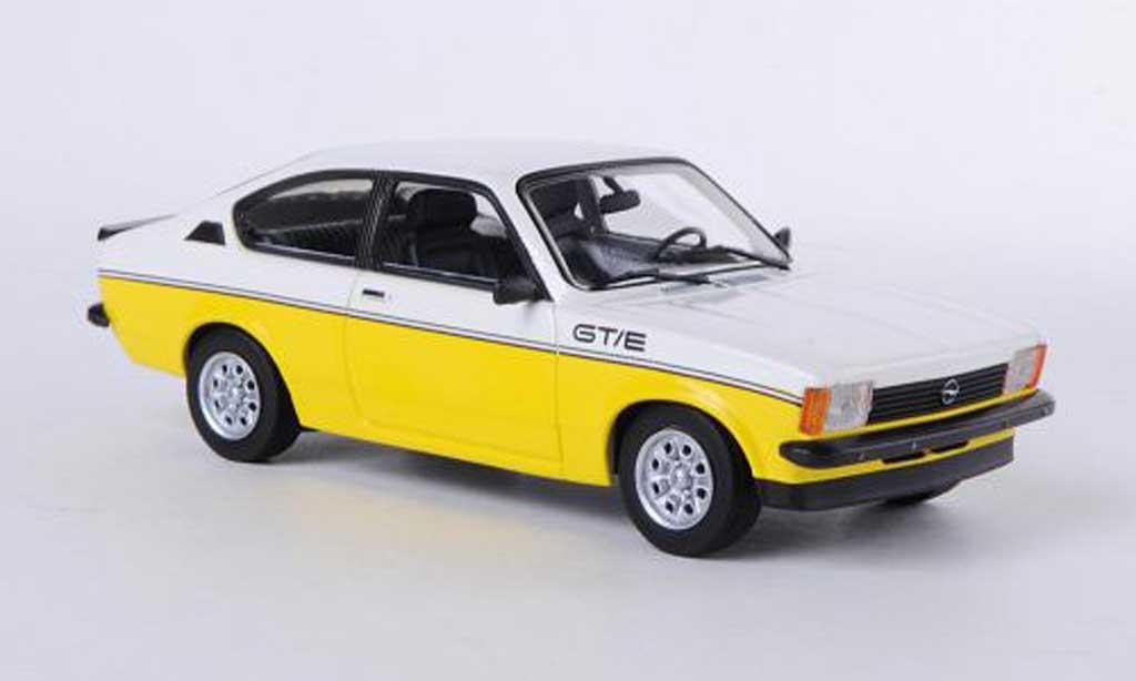 Opel Kadett C 1/43 Minichamps GT/E blanco/amarillo 1978 miniatura