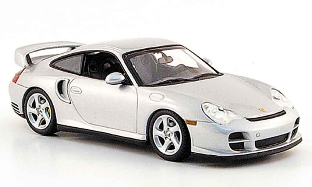 Porsche 996 GT2 1/43 Minichamps grise metallisee 2000 miniature