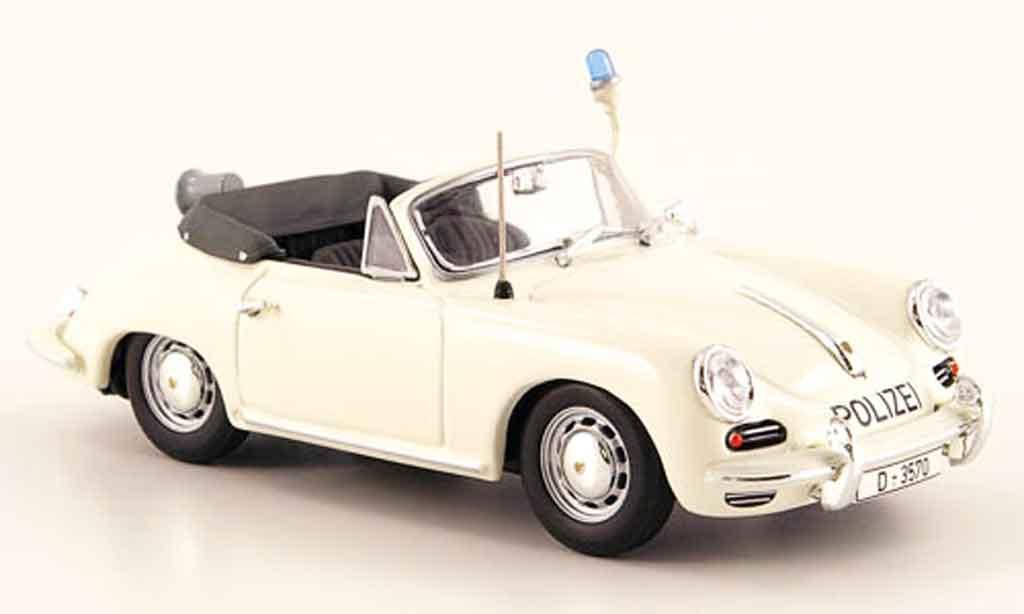 Porsche 356 1/43 Minichamps 1965 C Cabriolet police Dusseldorf  modellautos