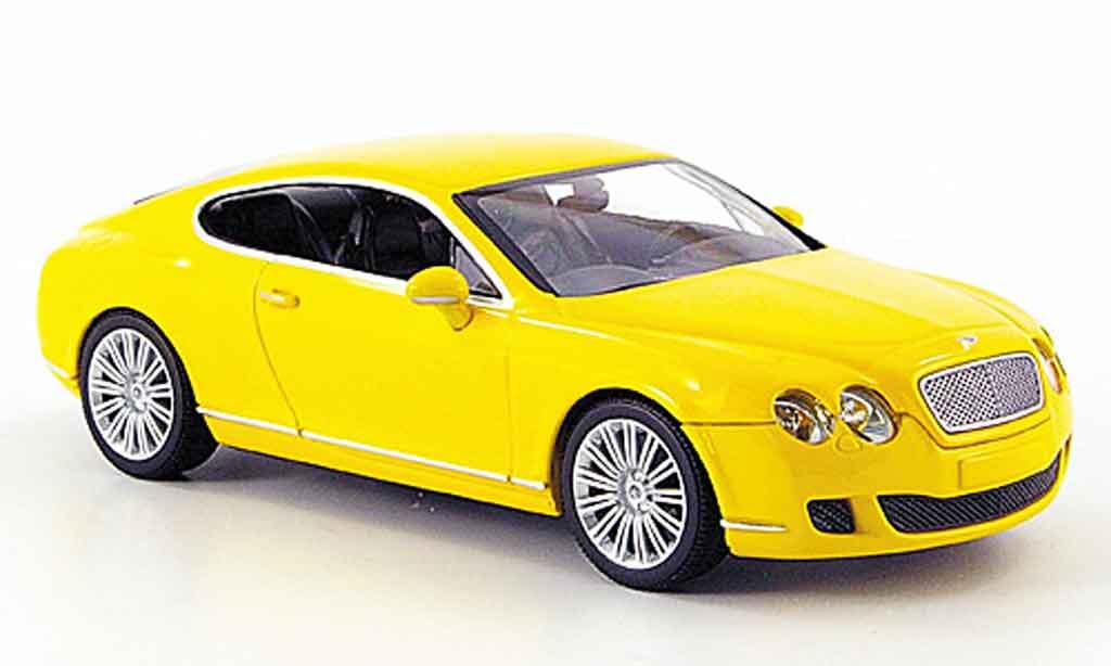 Bentley Continental GT 1/43 Minichamps jaune Linea 2008 miniature