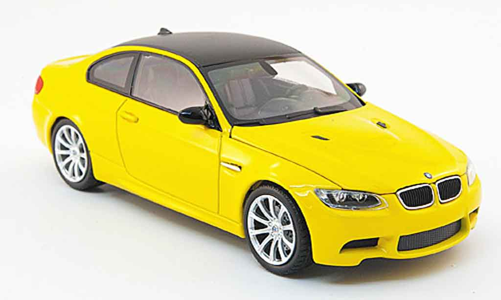 Bmw M3 E92 1/43 Minichamps yellow Linea Giallo 2008 diecast model cars