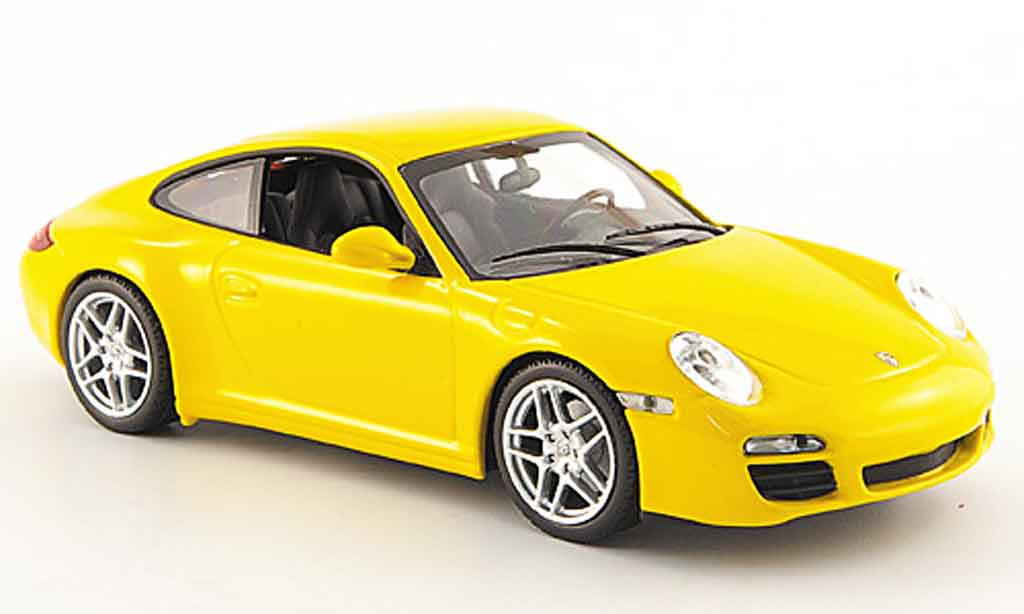 Porsche 997 Carrera 1/43 Minichamps Carrera yellow Linea Giallo 2008 diecast model cars