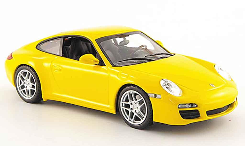 Porsche 997 Carrera 1/43 Minichamps Carrera jaune Linea Giallo 2008 miniature