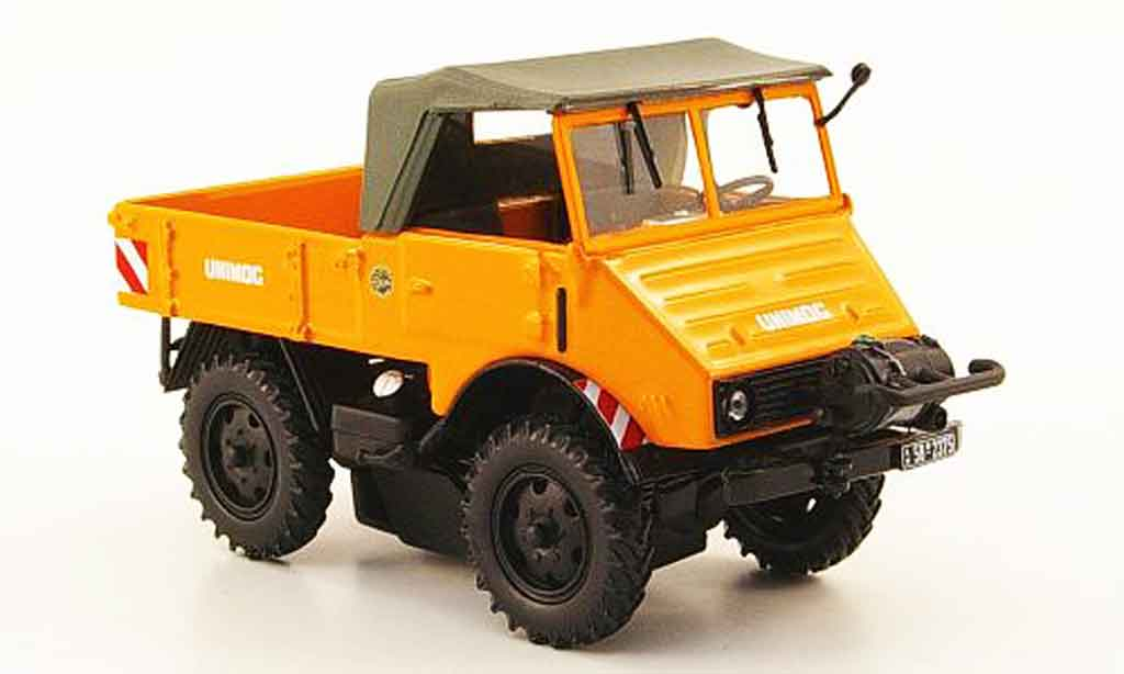 Mercedes Unimog 1/43 Minichamps 401 orange avec Seilwinde 1951