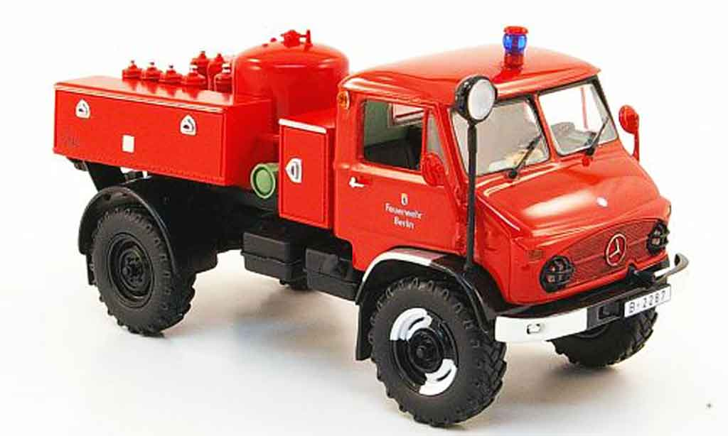 Mercedes Unimog 1/43 Minichamps 404 TroLF 750 pompier Berlin 1960 miniature
