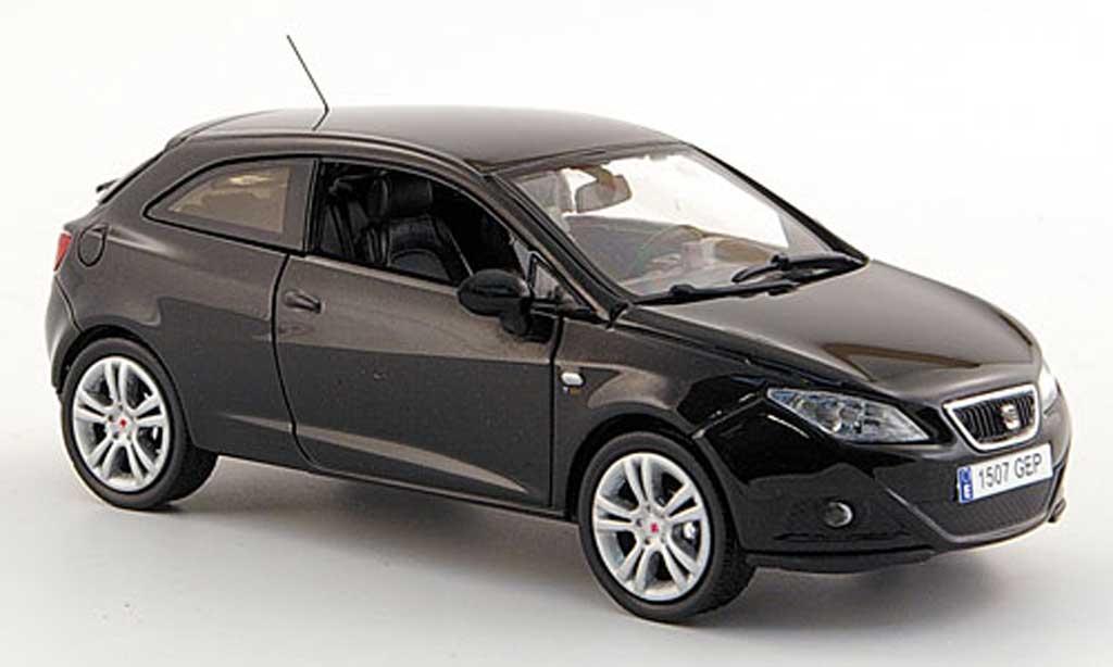 Seat Ibiza 1/43 J Collection SC noire 3-portes 2008 miniature