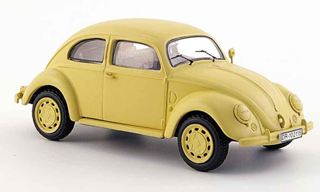Volkswagen Coccinelle 1/43 Schuco brezelreichsverkehrsdirektion minsk beige diecast