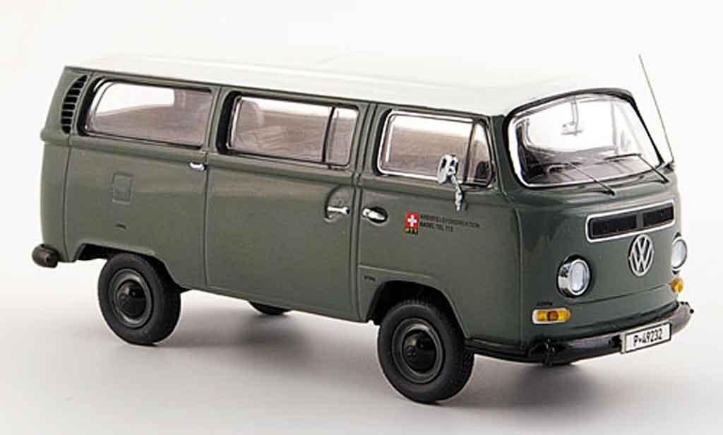 Volkswagen Combi 1/43 Schuco t 2 a bus ptt messwagen grise blanche miniature