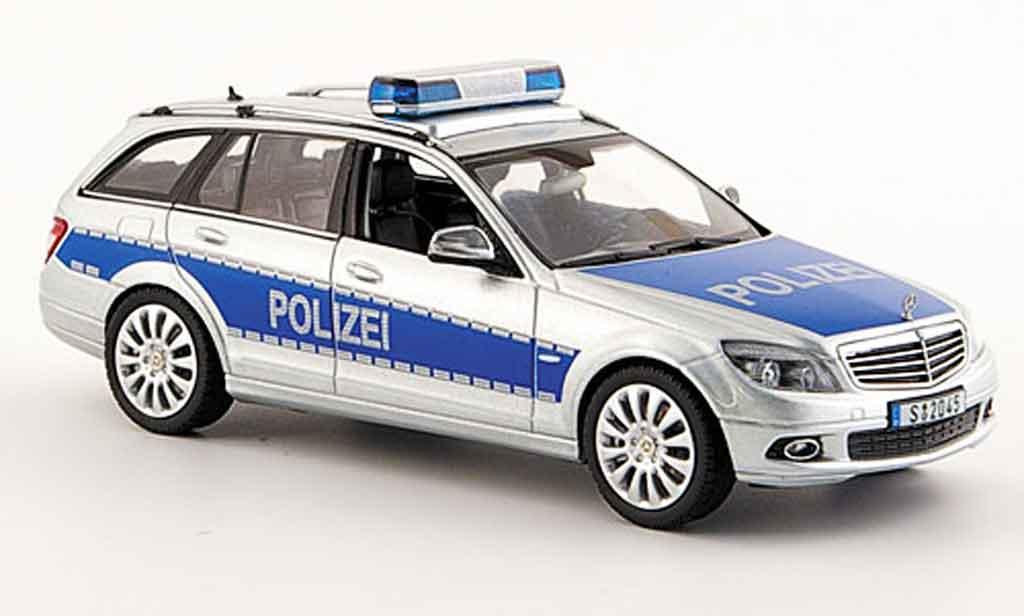 Mercedes Classe C 1/43 Schuco T Modell (W 204) police Deutschland 2007 diecast model cars