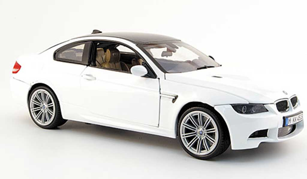 Bmw M3 E92 1/18 Mondo Motors coupe blanche 2008 miniature