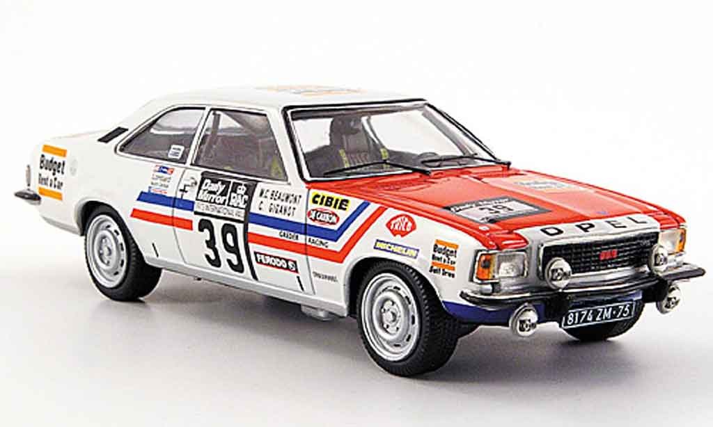 Opel Commodore B 1/43 Schuco gs e no.39 rallye england 1973 miniature