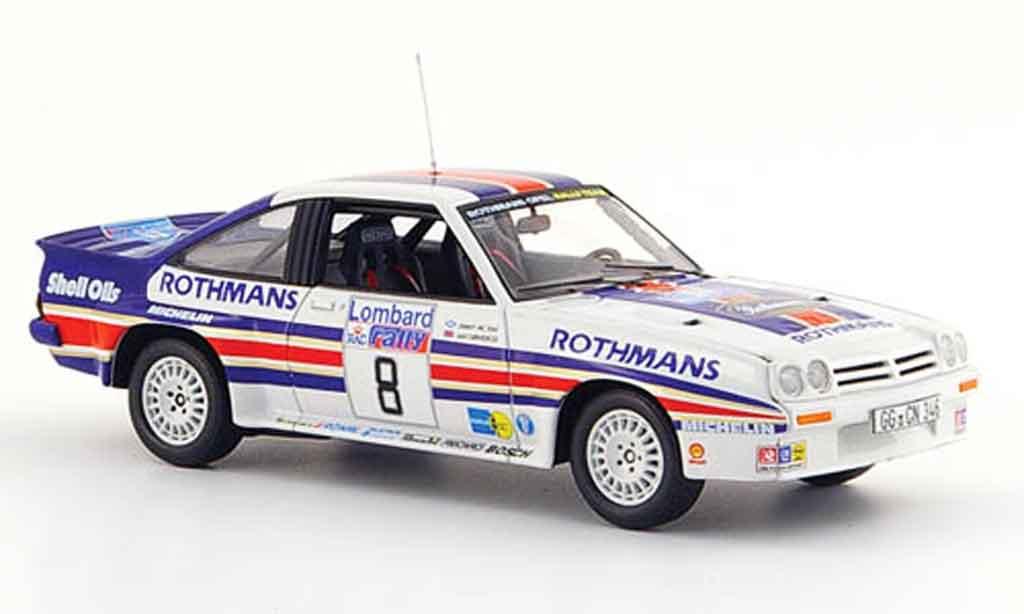 Opel Manta B 1/43 Schuco 400 no.8 rougehmans rallye england 1983 miniature