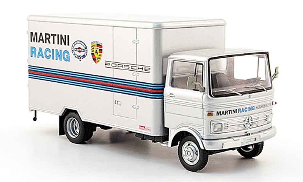 Mercedes LP 608 1/43 Schuco Kastenwagen gray Martini Racing diecast