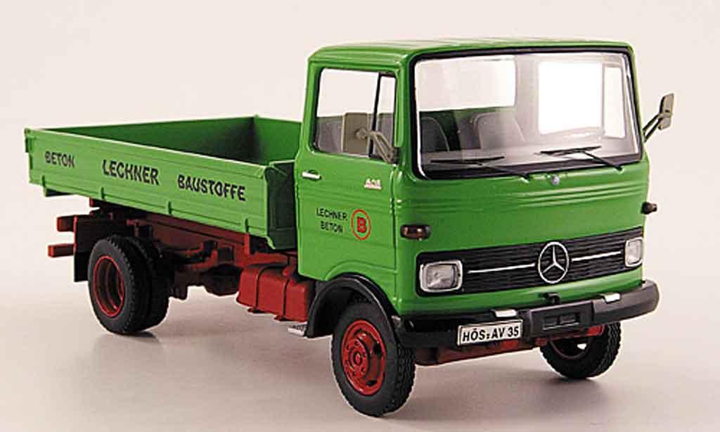 Mercedes LP 608 1/43 Schuco Kipper Lechner Baustoffe grun miniature
