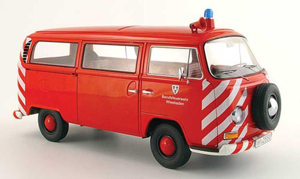 Volkswagen Combi 1/18 Schuco pompier diecast