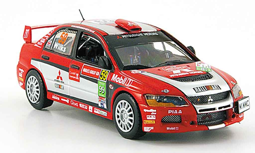 Mitsubishi Lancer Evolution IX 1/43 Vitesse Gr.N No. 59 PWRC Rally England 2007 miniature