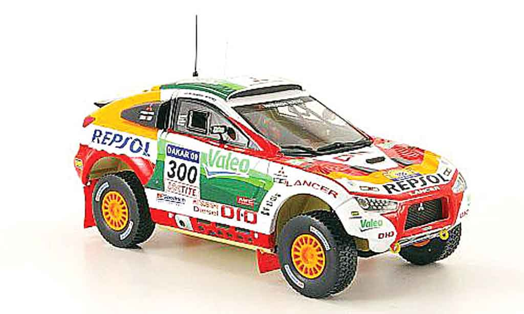 Mitsubishi Lancer Evolution X 1/43 Vitesse Racing No.300 Rally Dakar 2009 miniature