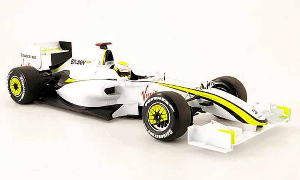 Mercedes F1 1/18 Minichamps brawn gp bgp 001 no.22 virgin j. button f1 2009 miniature