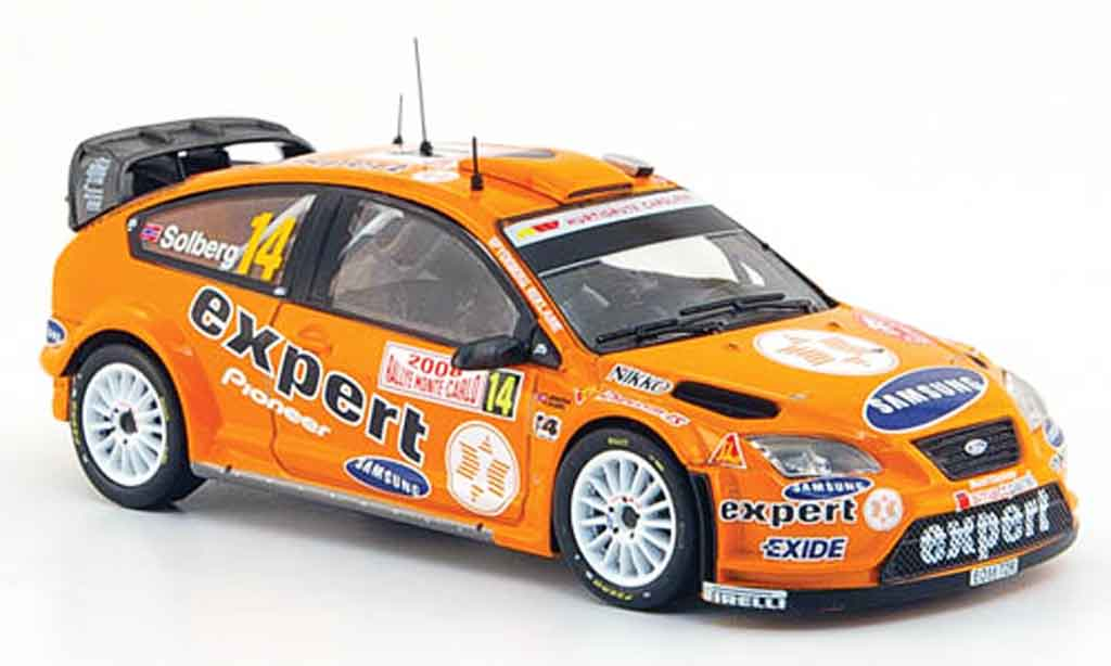 Ford Focus RS WRC 1/43 IXO 07 No.14 Expert Rally Monte Carlo 2008 miniature