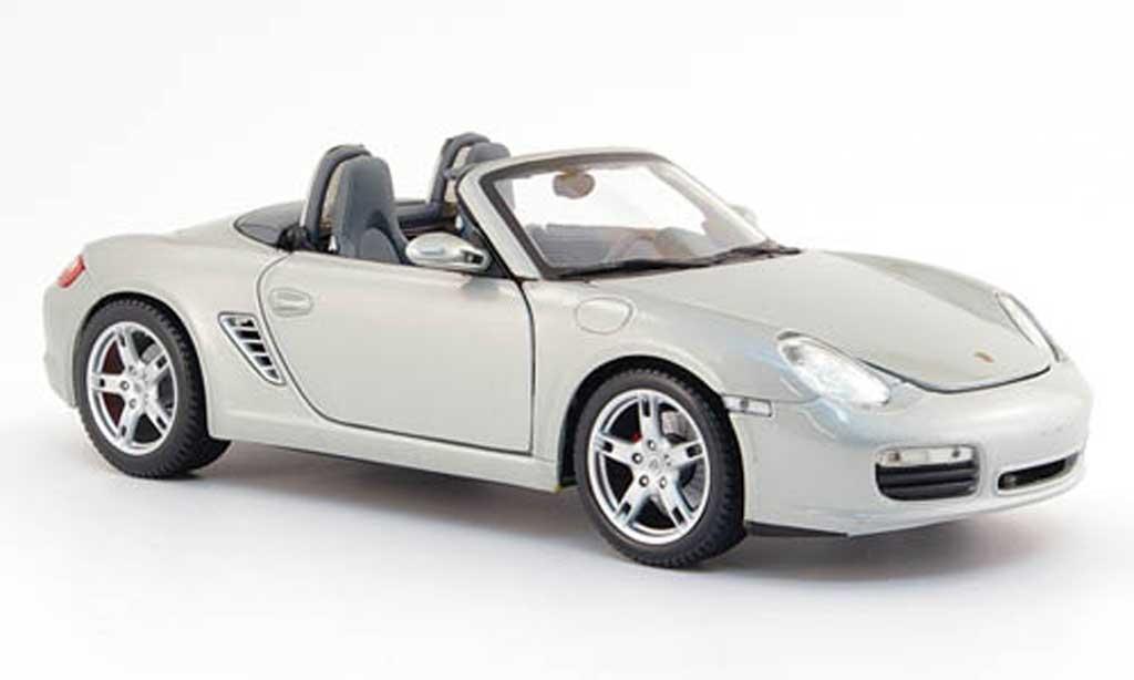Porsche Boxster 1/18 Maisto grise mit licht und sound miniature