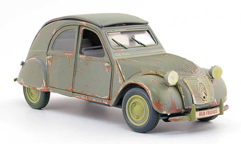 Citroen 2CV 1/18 Maisto grey rouille 1952 diecast model cars