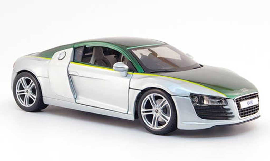 Audi R8 4.2. FSI 1/18 Maisto grise/verte need for speed miniature