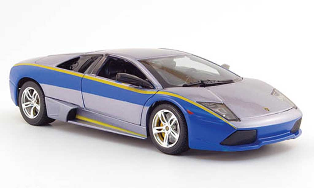 Lamborghini Murcielago LP640 1/18 Maisto grigia/bleu need for speed miniatura