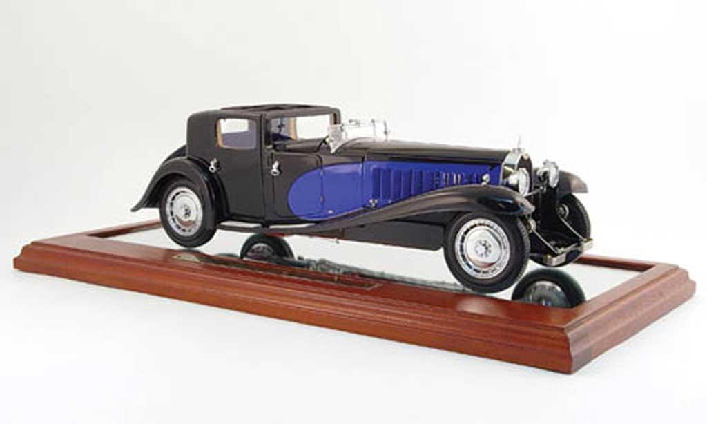 Bugatti Royale 1/18 Bauer coupe de ville noire bleu 1931 miniature