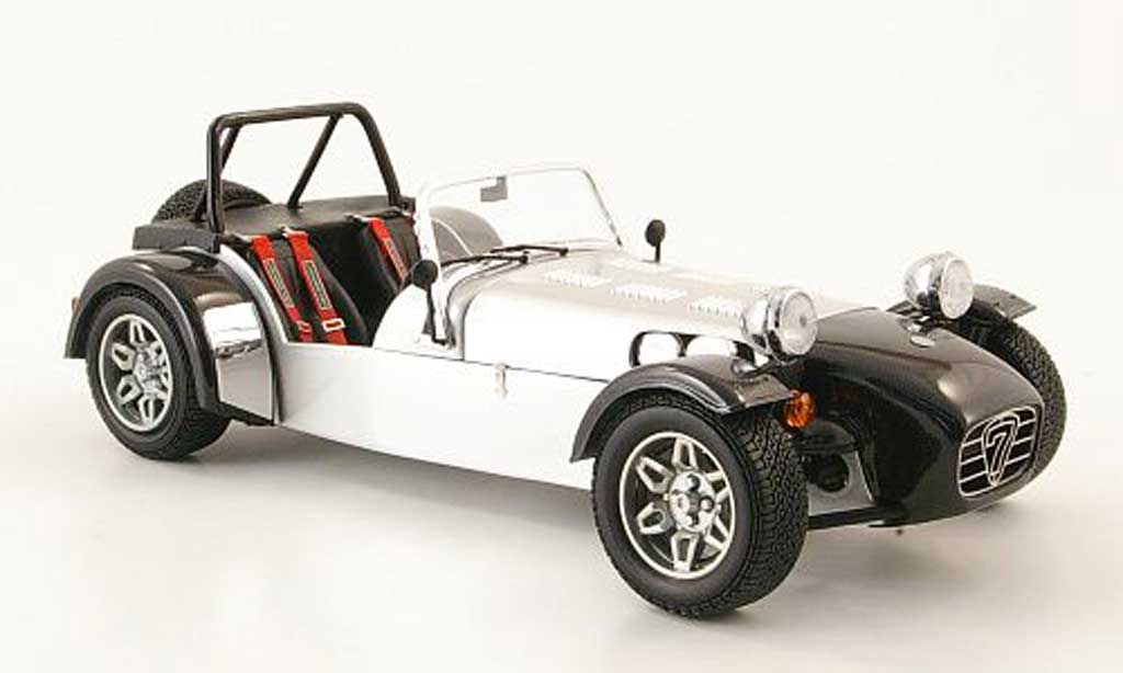 Caterham Super Seven 1/18 Norev grise metallized/carbon miniature