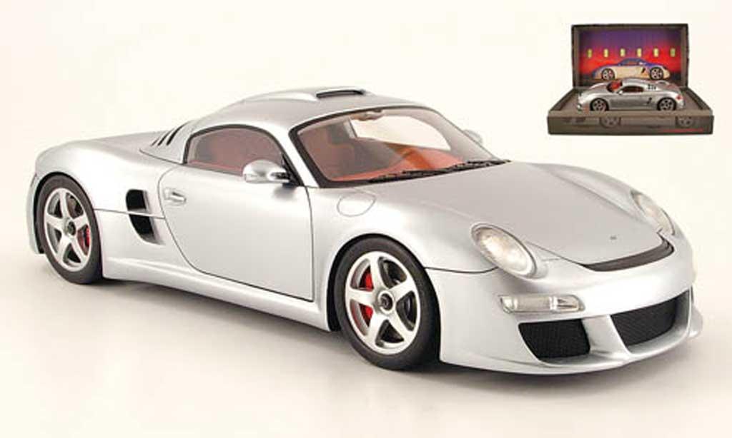 Porsche 911 RUF 1/18 Spark ctr 3 grau modellautos