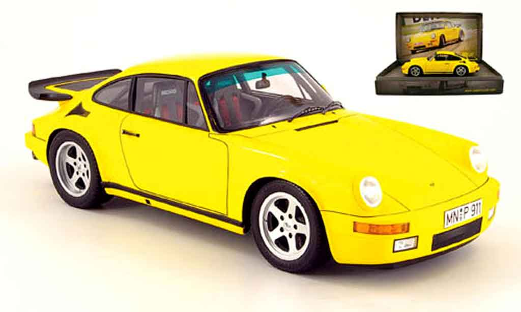 Porsche 911 RUF 1/18 Spark ctr yellow bird miniature