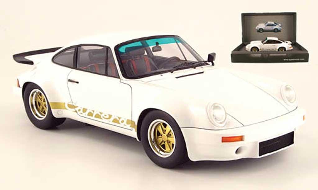 Porsche 930 RS 1/18 Spark carrera 3.0 blanche 1974 miniature