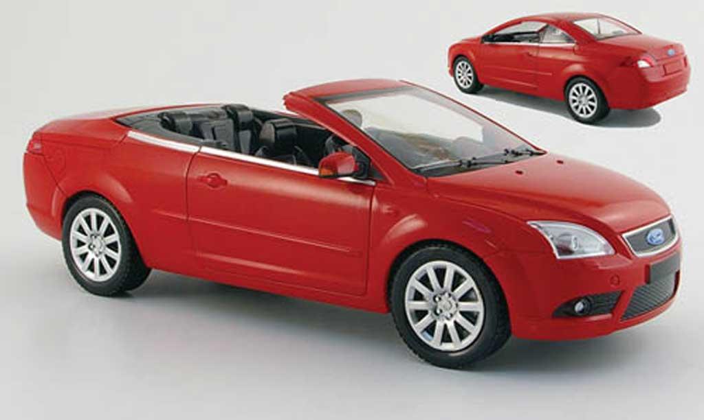 Ford Focus CC 1/18 Powco rouge mit aufsteckdach 2007 miniature