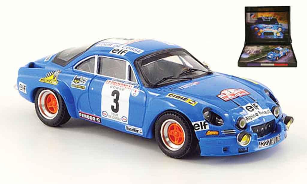 Alpine A110 1/43 Trofeu no.3 gitanes rallye korsika 1974 diecast model cars