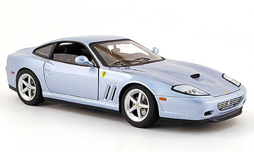 Ferrari 575 M 1/18 Hot Wheels maranello bleu bad boys ii miniature