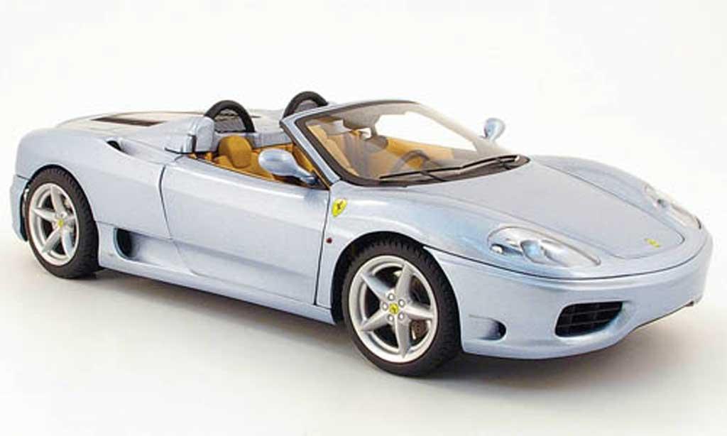 Ferrari 360 Modena Spider 1/18 Hot Wheels the italian job grisebleu miniature