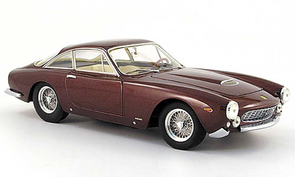 Ferrari 250 GT 1/18 Hot Wheels berlinetta marron steve mcqueen miniature