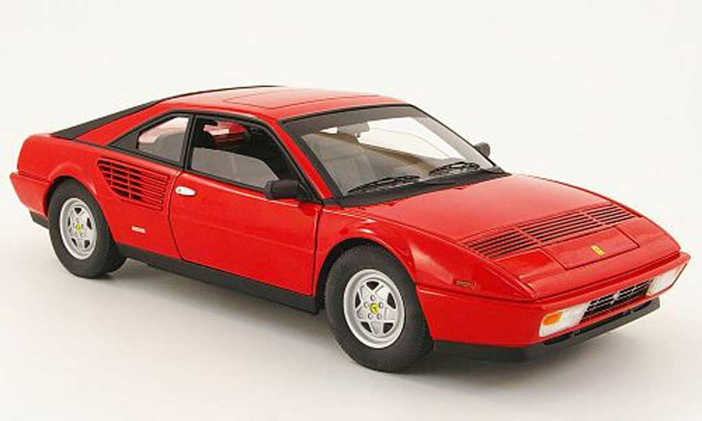 Ferrari Mondial 1/18 Hot Wheels 8 3.2 red diecast model cars