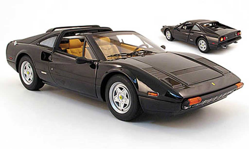 Ferrari 308 GTS 1/18 Hot Wheels nero miniatura