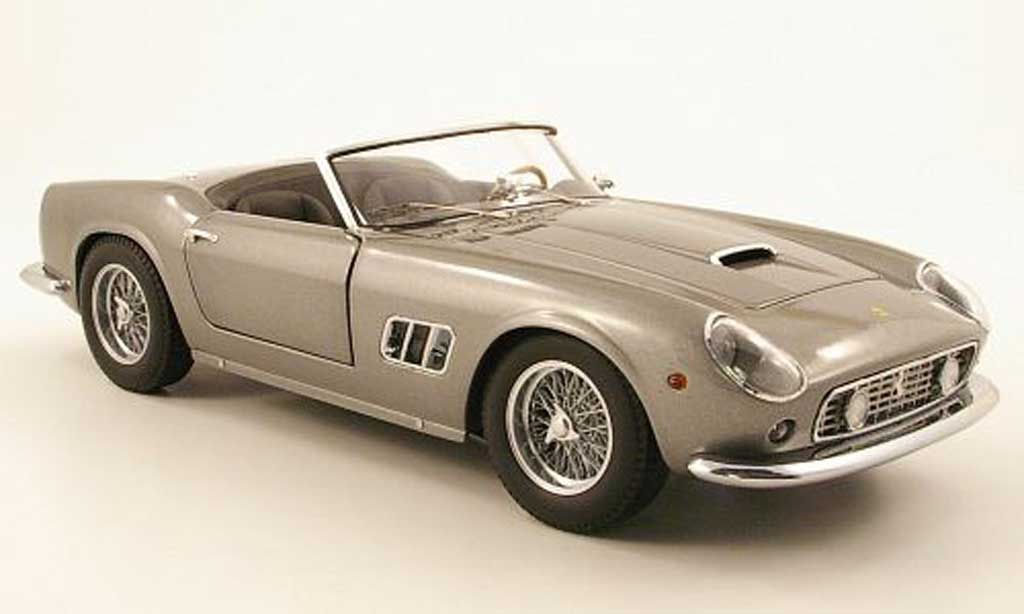 Ferrari 250 GT California 1/18 Hot Wheels spider swb gris miniatura